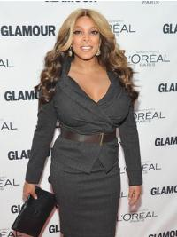 "Wendy Williams 22"" Wavy Long Full Lace Remy Human Hair"