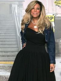 "Layered Wendy Williams 18"" Wavy Long Remy Human Hair"