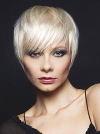 Young Fashion Great Short Hair Cut Grey Wigs