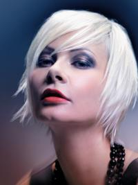 Young Fashion Dramatic Layered White Short Capless Wigs
