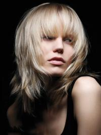Young Fashion Platinum Blonde Wild And Wispy Style Full Lace Human Wigs