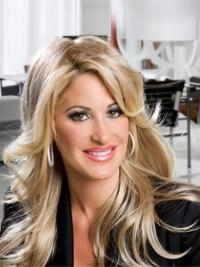 Comfortable Blonde Wavy Long Kim Zolciak Wigs